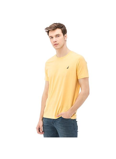 Nautica Bisiklet Yaka Tişört Sarı